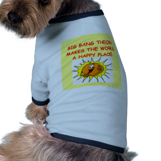 teoría de explosión grande camisetas mascota