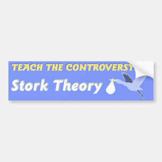 Teoría de la cigüeña etiqueta de parachoque
