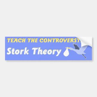 Teoría de la cigüeña pegatina para auto