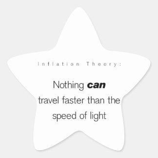 Teoría de la inflación… pegatina en forma de estrella