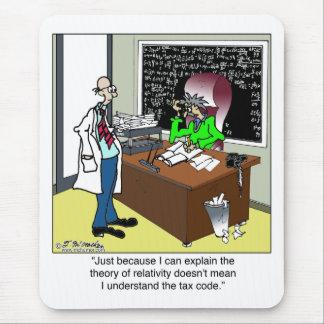 Teoría de la relatividad y del código impositivo mouse pad