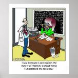 Teoría de la relatividad y del código impositivo impresiones