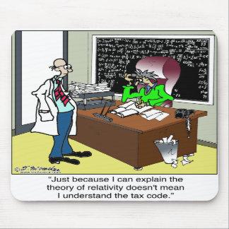 Teoría de la relatividad y del código impositivo tapetes de raton