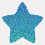 Teoría del color: Armonía fresca Pegatina En Forma De Estrella