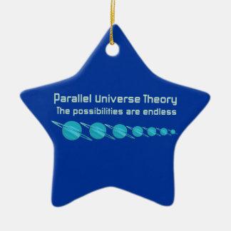 Teoría paralela del universo adorno navideño de cerámica en forma de estrella