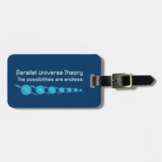 Teoría paralela del universo etiqueta de maleta