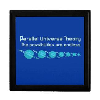 Teoría paralela del universo joyero cuadrado grande