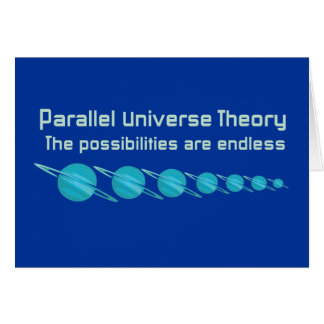 Teoría paralela del universo tarjeta de felicitación