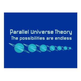 Teoría paralela del universo tarjetas postales