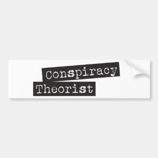 TEÓRICO de la conspiración Etiqueta De Parachoque