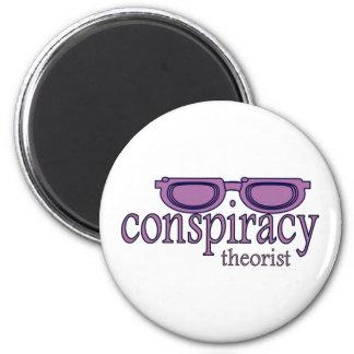 Teórico de la conspiración imán redondo 5 cm