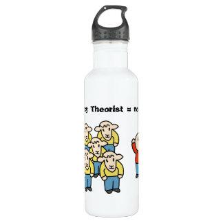 Teórico = non-sheeple de la conspiración botella de agua de acero inoxidable