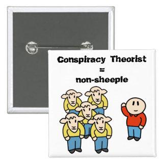 Teórico = non-sheeple de la conspiración pin