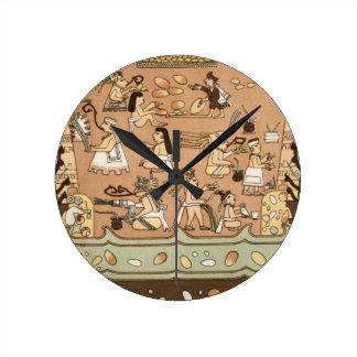 Mural wall clocks zazzle for Clock wall mural