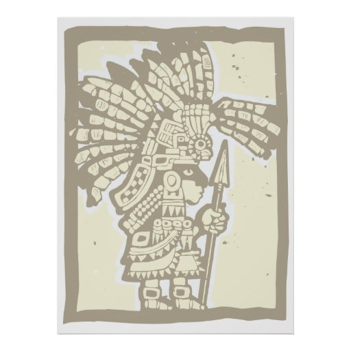 Teotihuacan Warrior Poster
