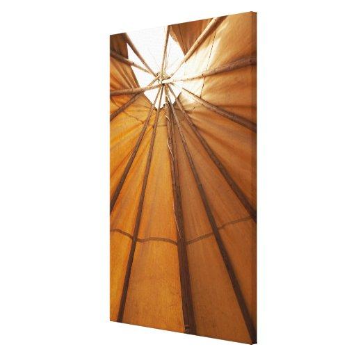 Tepee interior gallery wrap canvas