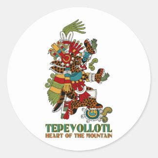 Tepeyollotl Classic Round Sticker