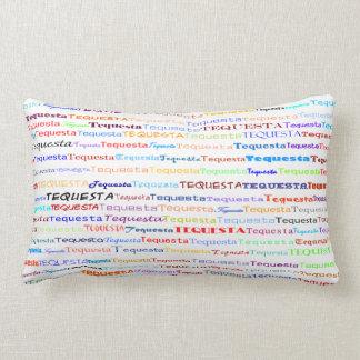 Tequesta Text Design II Lumbar Pillow