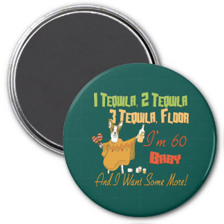Tequila 60th Birthday Party Collection 3 Inch Round Magnet