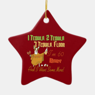 Tequila 60th Birthday Party Collection Ceramic Ornament