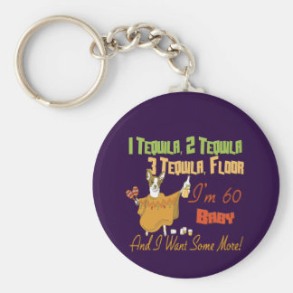 Tequila 60th Birthday Party Collection Keychain