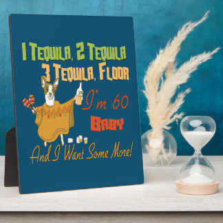 Tequila 60th Birthday Party Collection Plaque
