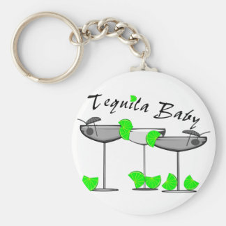 """""""Tequila Baby"""" - Tquila Lovers Womens T-Shirts Basic Round Button Keychain"""