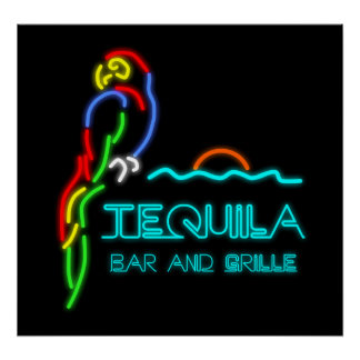 Tequila Bar and Grille Neon Sign