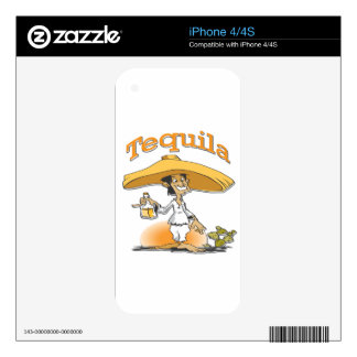 Tequila Cactus Mexican Sombrero iPhone 4 Decals