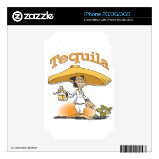 Tequila Cactus Mexican Sombrero Decal For iPhone 2G