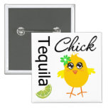 Tequila Chick 2 Inch Square Button