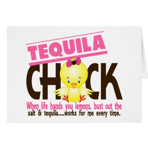 Tequila Chick Greeting Card