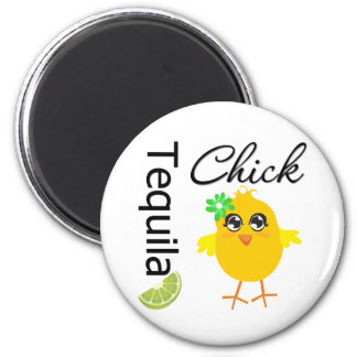Tequila Chick Refrigerator Magnet