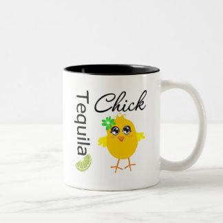 Tequila Chick Two-Tone Coffee Mug