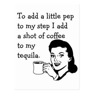 Tequila Coffee Pep Postcard