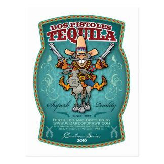Tequila del DOS Pistoles Postales