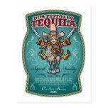 Tequila del DOS Pistoles Tarjeta Postal