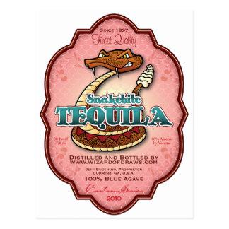 Tequila del Snakebite Postales