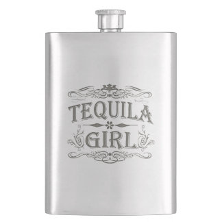 Tequila Girl Hip Flask