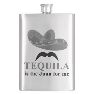 Tequila is the Juan for Me Flask