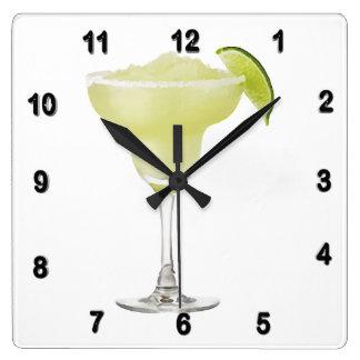 Tequila Lime Slushie Square Wall Clocks