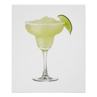 Tequila Lime Slushie Poster