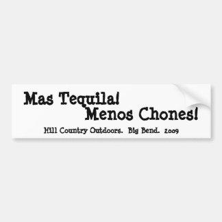Tequila Menos Chones del Mas Pegatina Para Auto