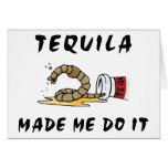 Tequila mexicano divertido felicitación