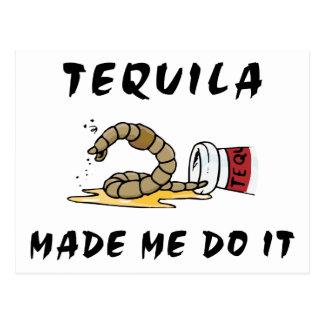 Tequila mexicano divertido postal