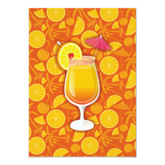 Tequila sunrise 4.5x6.25 paper invitation card