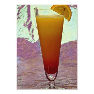 Tequila sunrise 5x7 paper invitation card