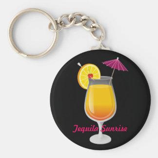 Tequila Sunrise Basic Round Button Keychain