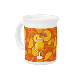 Tequila sunrise beverage pitcher