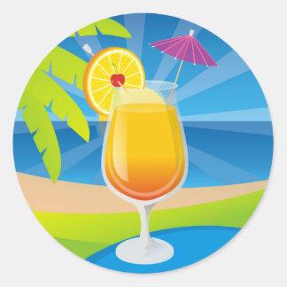 Tequila Sunrise Classic Round Sticker